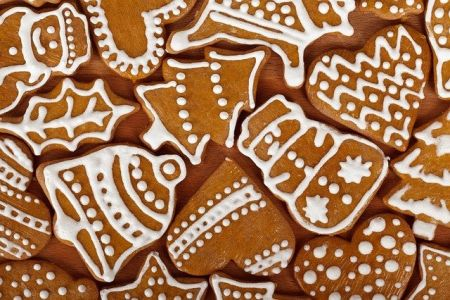 Lebkuchen-Kekse verziert