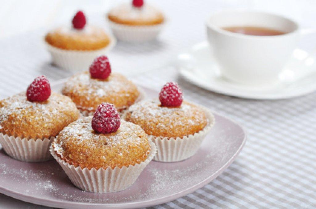 Raffaello Himbeer Muffins