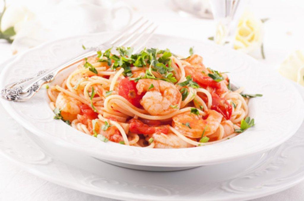 shrimpsspaghetti rezept. Black Bedroom Furniture Sets. Home Design Ideas