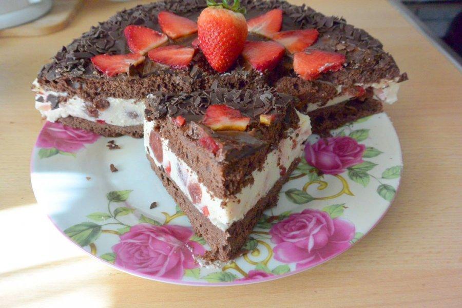 Quark Erdbeere Schoko Torte Rezept Kochrezepte At