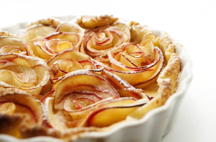 Apfel Rosen Tarte Rezept Kochrezepte At