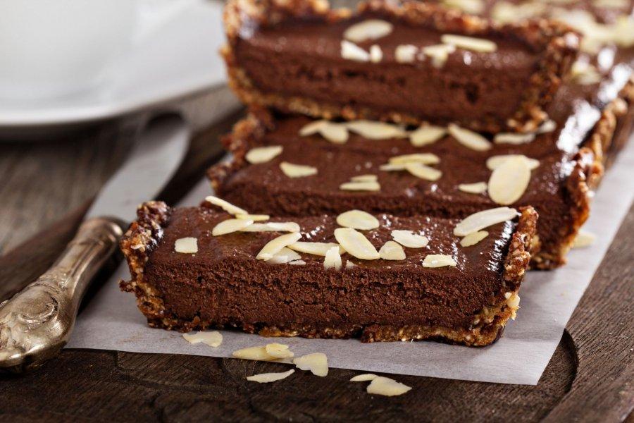 Schokoladentarte Mit Mandeln Ohne Backen Rezept Kochrezepteat