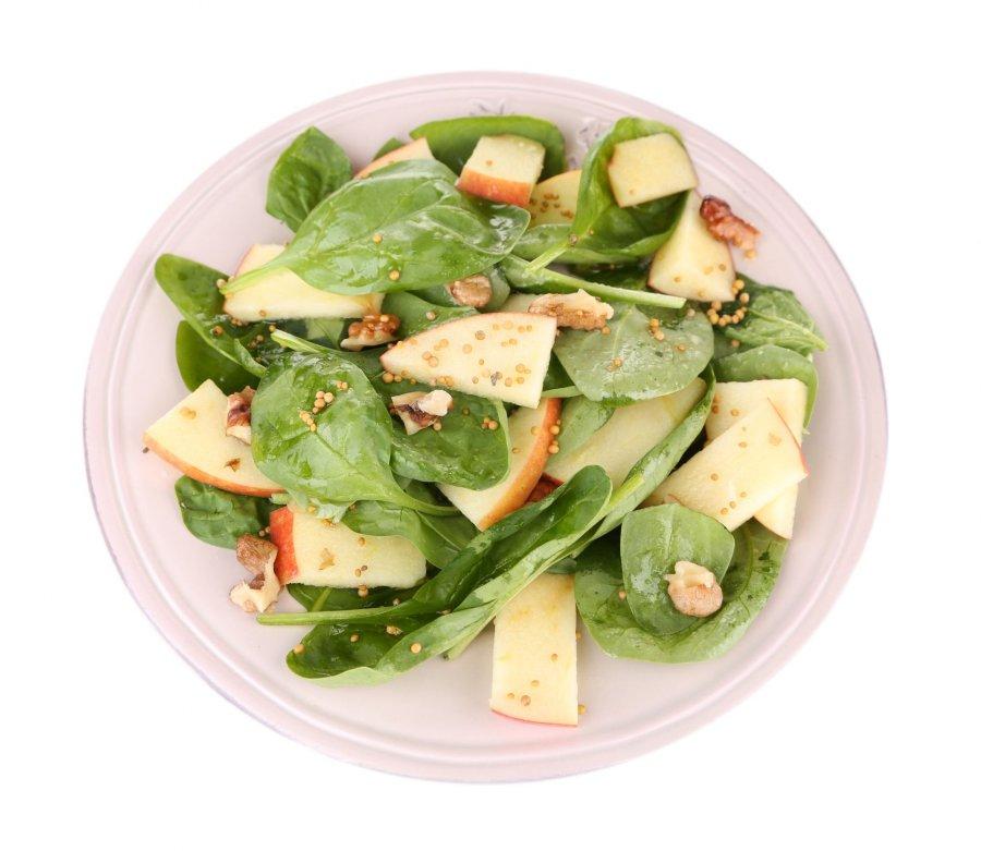 spinat salat mit pfeln und pekann ssen rezept. Black Bedroom Furniture Sets. Home Design Ideas