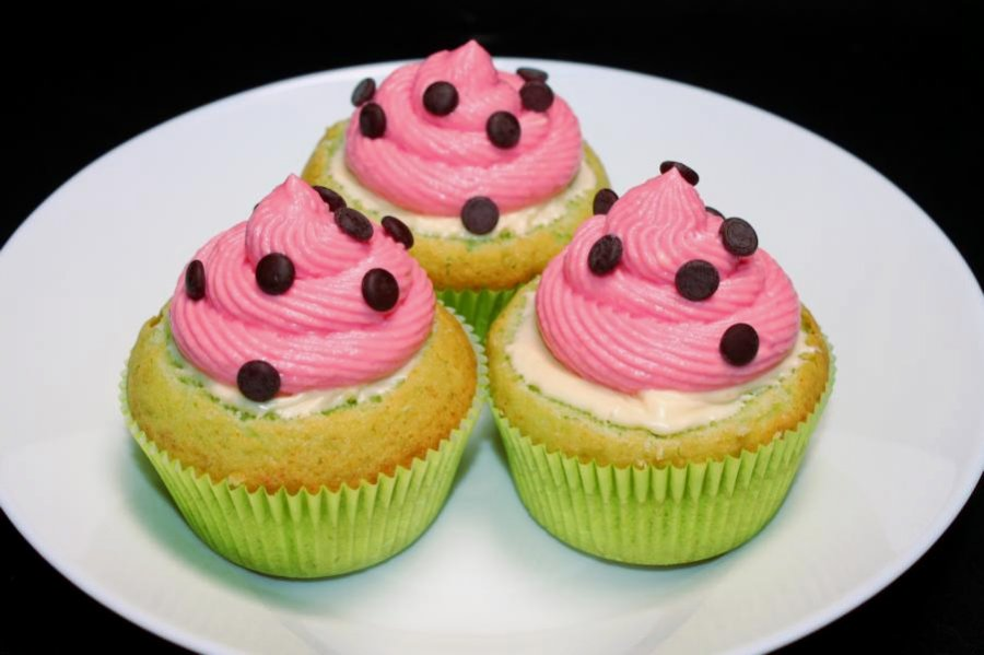 wassermelonen cupcakes rezept. Black Bedroom Furniture Sets. Home Design Ideas